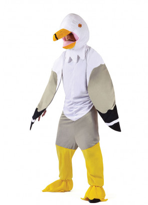 Seagull Big-Head Mascot