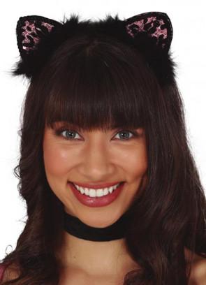 Black & Pink Leopard Headband