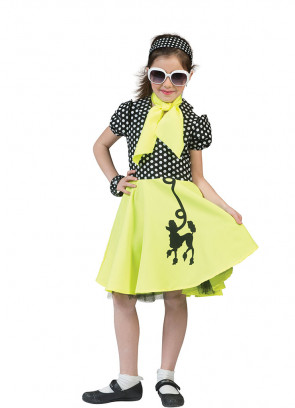 Black & Yellow Poodle Dress Costume