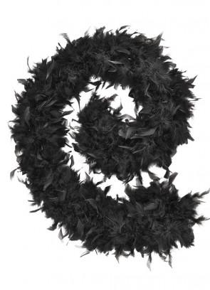 Feather Boa Black 80g - 182cm