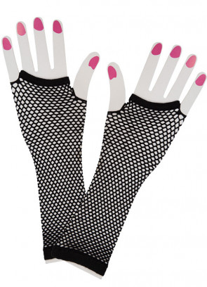 80s Fishnet Gloves (Black)