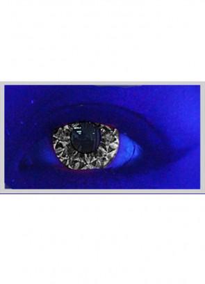Saf Black Glitter UV Contact Lenses - 30 Day Wear