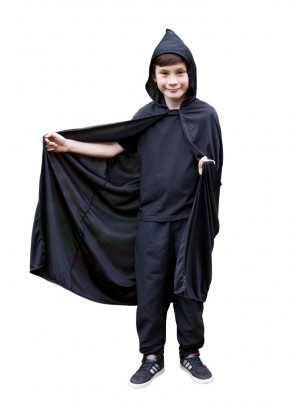 Black Hooded Cape (kids)