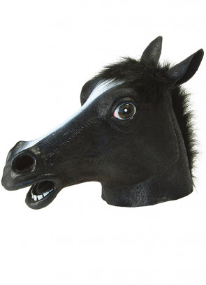 Horse Rubber Mask (Black)