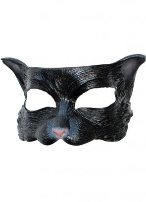 Black Kitten Half Mask