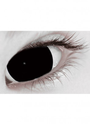 Black Mini Sclera Contact Lenses (17mm) - 30 Day Wear