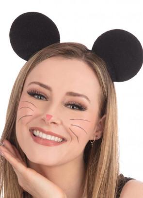 Black Mouse Ears on Headband