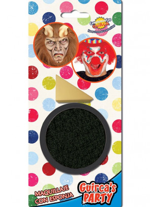 Black Face Paint 9ml & Sponge