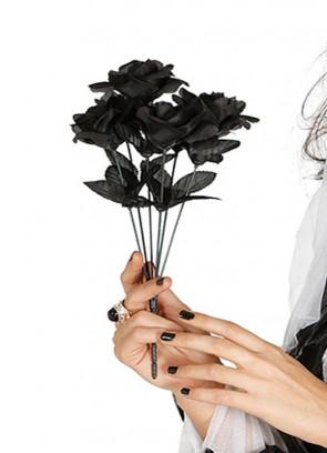 Corpse Bride Black Rose Bouquet