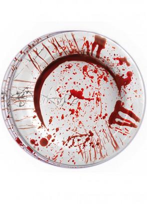 Blood Bath Paper Plates 23cm – 8pk