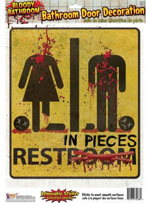 Bloody Bathroom Door Sticker