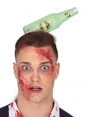 Bloody Beer Bottle through Head