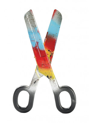 Giant Bloody Clown Scissors - 40 cm