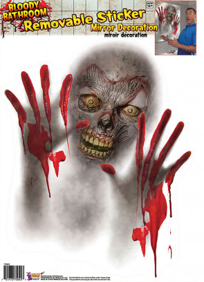 Bloody Zombie Mirror Sticker Decoration