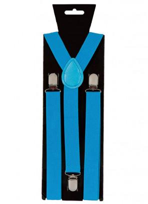 Blue Trouser Braces / Suspenders