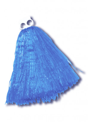Small Blue Pom Poms 2pcs
