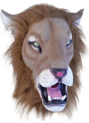 Lion Rubber Mask Realistic with Hair