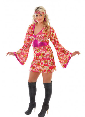 Flower Power Dress (Pink) Costume