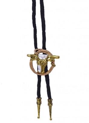Cowboy Bootlace Tie (Steer & Rope)