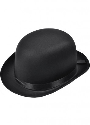 Bowler Hat Black (Satin)