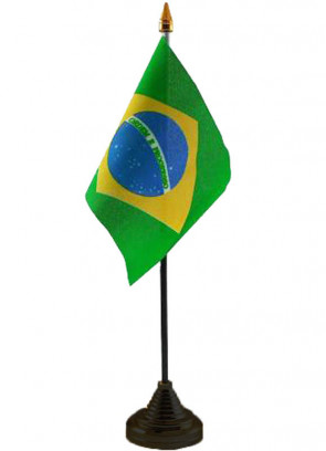 Brazil Table Flag World Cup
