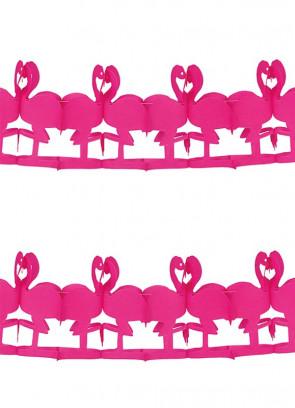 Bright Pink Flamingo Bunting 3m