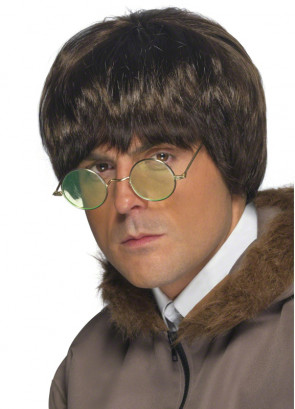 John Lennon - Brit Pop - Brown Wig