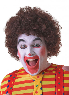 Brown Clown Afro Pop Wig