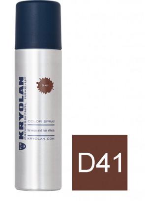 Kryolan Color Hair Spray - Brown D41