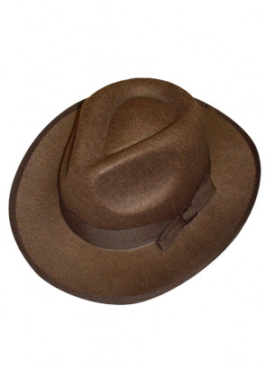 Brown Adult Gangster Hat - Fright / Indiana