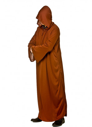 Adults Brown Hooded Robe - Monster-Family