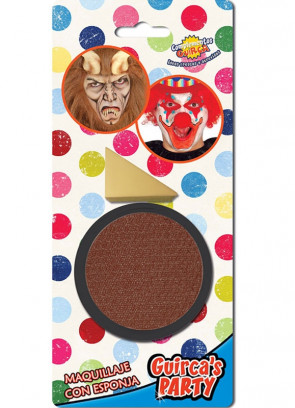 Brown Face Paint 9ml & Sponge