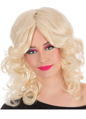 Farrah Fawcett Blonde 70s Wig