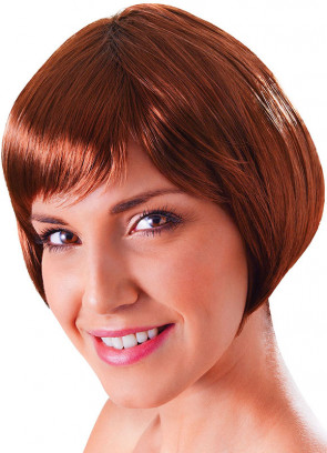 Flirty Flick Brown Wig - factory