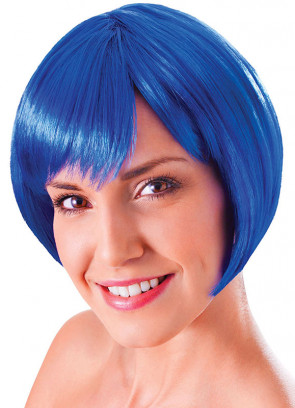 Flirty Flick Blue Wig