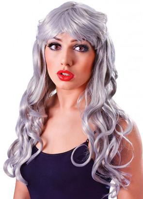 Gothic Temptress Silver/Grey Wig