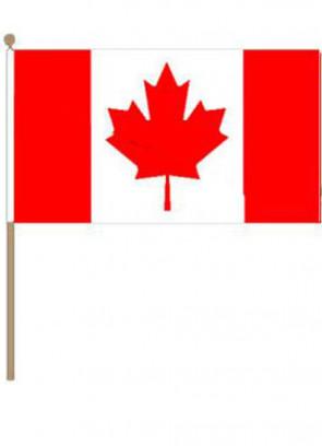 "Canada Hand Flag 18"" x 12"""