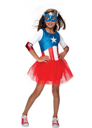 Captain America - American Dream - Marvel - Girls Costume