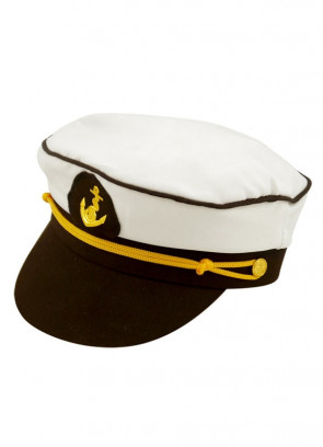 Captain Hat – Black and White