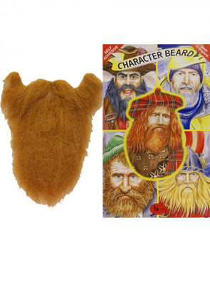 Long Beard And Moustache Black & Grey (Character Beard) **
