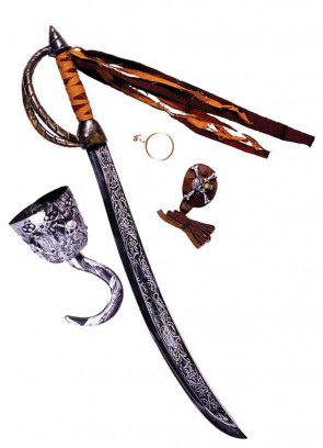 Caribbean Pirate Cutlass Sword Set - 69cm