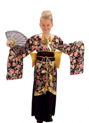 Geisha - Gold Bow & Black Dress