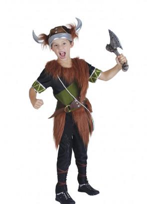 Viking Boy (Green) Costume
