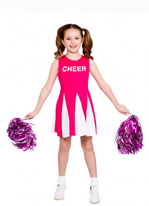 Cheerleader Girls Costume (Pink)