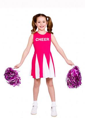 Cheerleader Girls Costume (Pink)