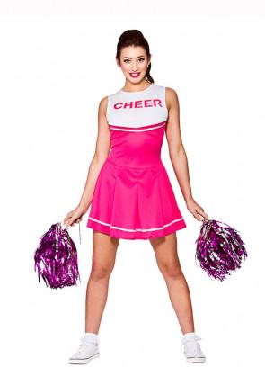 Cheerleader Ladies Costume (Pink)