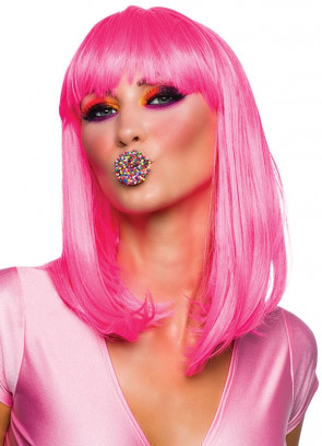 Chic Doll Wig - Neon Pink