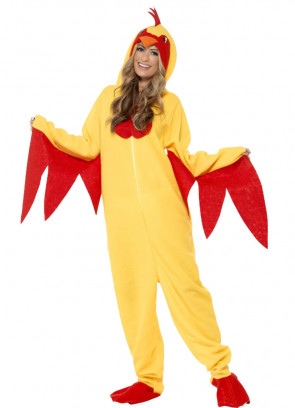 Chicken Onesie with Red Wings
