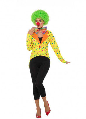 Colourful Clown Ladies Tailcoat