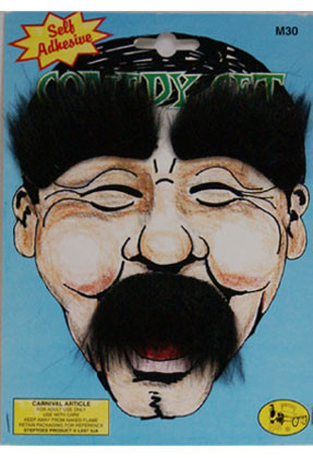 Comedy Moustache & Eyebrows Set (Black)